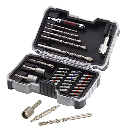 Bosch Professional - Set de 35 unidades para atornillar y perforar hormigón