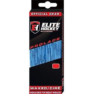 """Elite Hockey Prolace Schnürsenkel gewachst blau schwarz 108/"""" 274 cm NEU"""