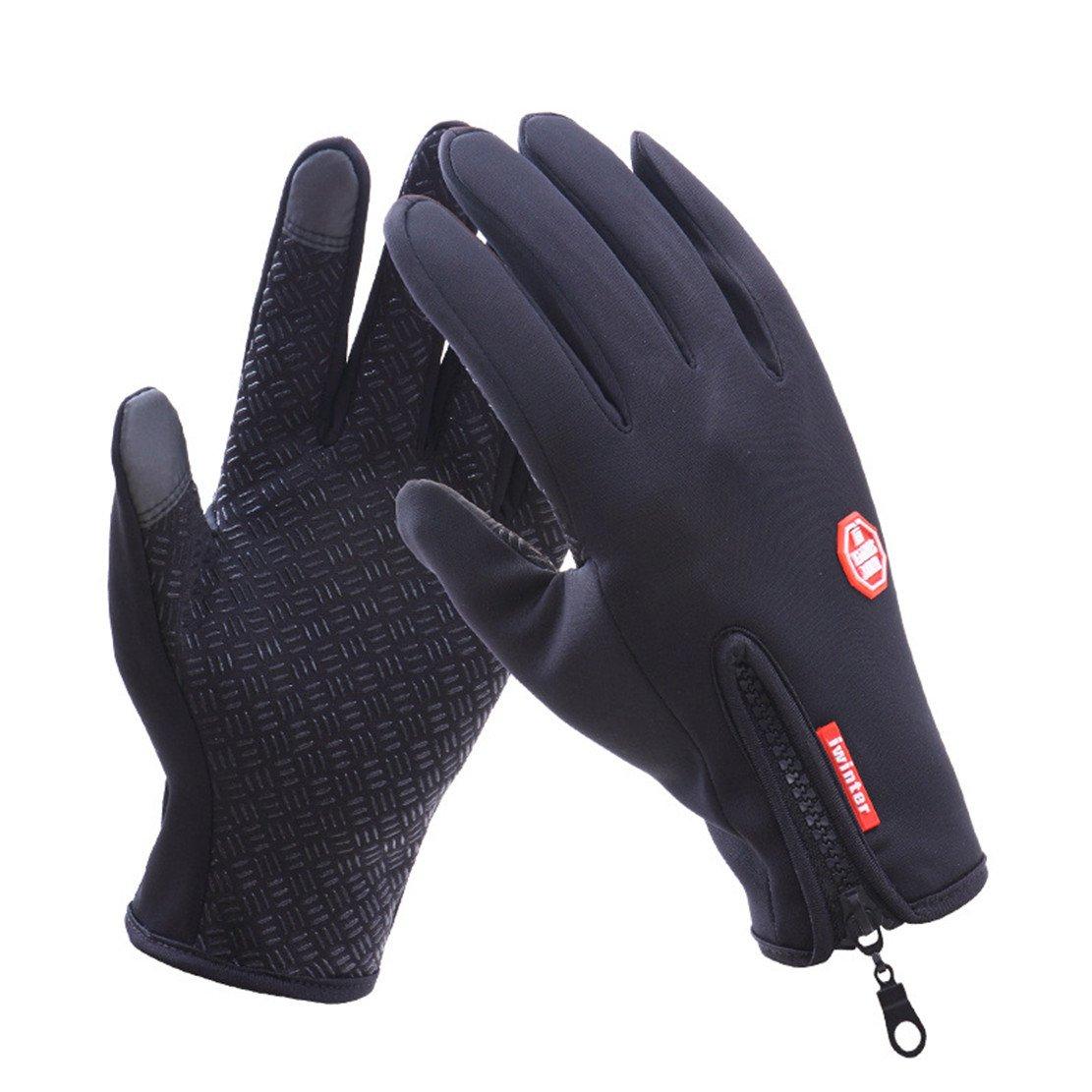 乗馬手袋、Wowen冬メンズとレディース手袋タッチスクリーン手袋アウトドアスポーツ手袋ドライブ登山、スキー、 ブラック01 Medium Mediumブラック01 B076XZNG3K