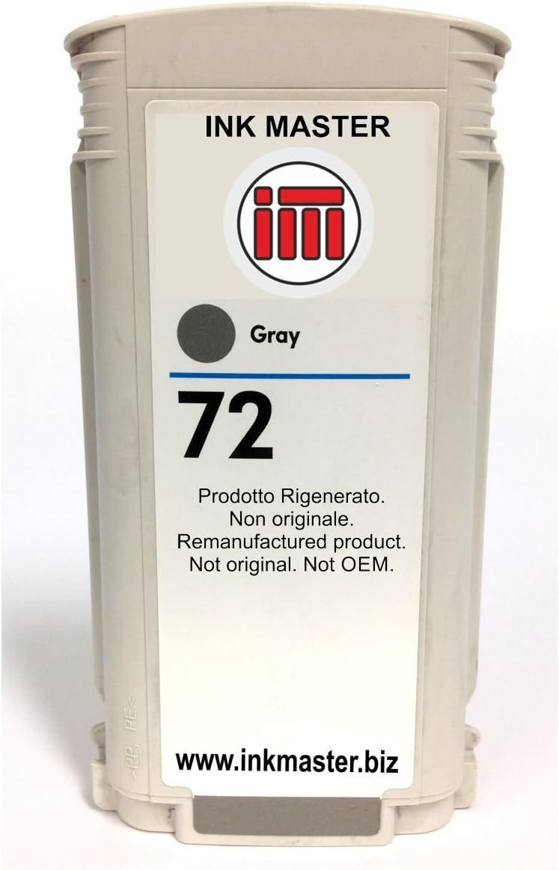Ink Master - Cartucho compatible para usar en lugar de HP 72 HP72 C9374A gray: Amazon.es: Electrónica