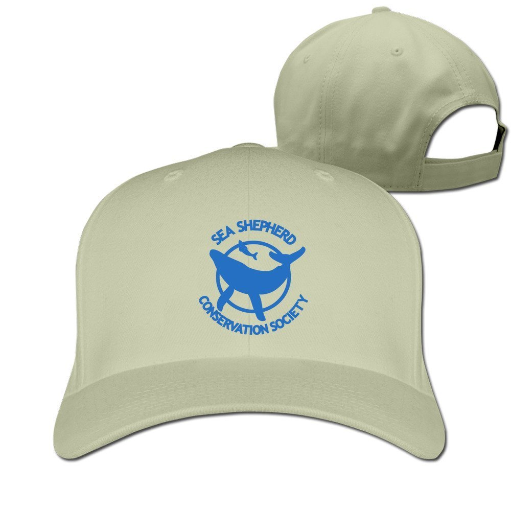 Facsea Black Sea Shepherd Whale Logo Adjustable Sports Tiene Natural