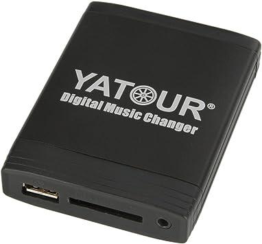 Yatour Navigation Plus 3 USB, SD, AUX y MP3 Concert 2+//3 Audi Chorus 2+//3 RCD200 R110 BNS 5.0 y Skoda Rhapsody Symphony 2+//3 Adaptador para radios de coche VW Delta//Premium RNS-E