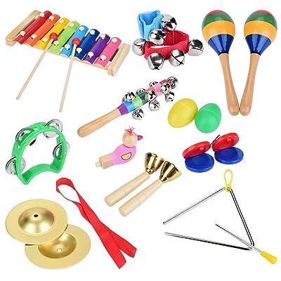 12 Unids/Set Más De 3 Años Niños Percusión Juguetes Niño Musical Instrumentos De Xilófono Set Para Juguetes Educativos: Bricolaje y herramientas