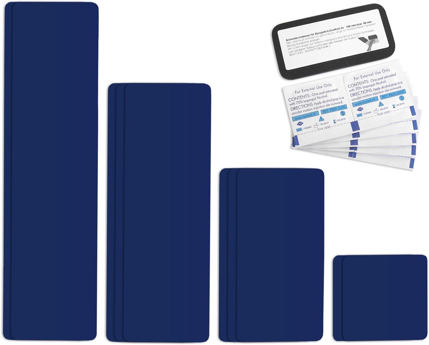 Selbstklebende Planenreparatur Tapes 10 Teilig Easy Patch Comfort 100mm Für Zelte Planen Uvm Saphirblau Ral 5003 Auto