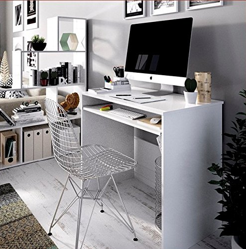 LIQUIDATODO ® - Mesa de escritorio con bandeja extraible moderna y ...