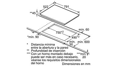 Balay - Placa vitrocerámica 3eb785lq ancho 80 cm