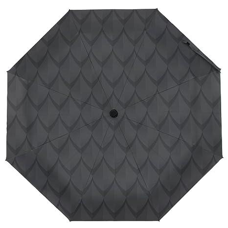 39c8dcca4e23 Amazon.com : Cooper girl Black Dragon Scales Umbrella Sun Rain ...