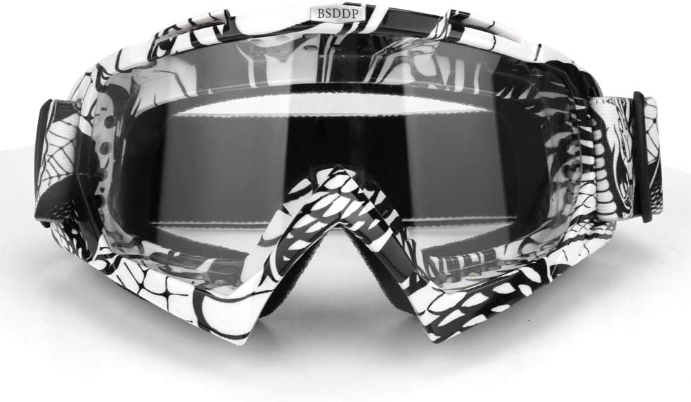 Amazon Com Carperipher Motorcycle Goggles Ski Snowboard Goggles Uv400 Protection Windproof Dustproof Atv Dirt Bike Racing Motocross Cycling Skiing Black Frame Clear Len Automotive