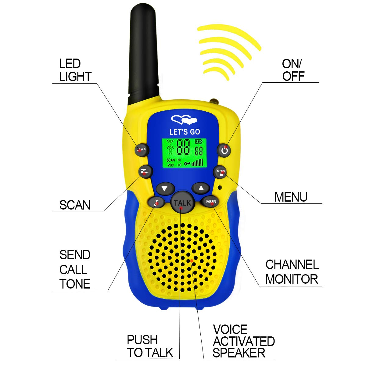 HODO Popular Outdoor Toys for 3-12 Year Old Boys, Long Range Walkie Talkies for Kids Toys for 3-12 Year Old Girls Gifts for 3-12 Year Old Boy Boy Toys Age 3-12 Girl Toys Gifts Age 3-12 HDHTS13 by HOdo (Image #3)