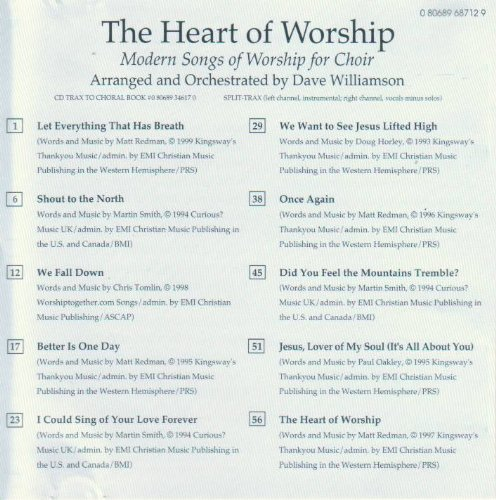 The Heart of Worship: Modern Songs of Worship for Choir Arranged and Orchestrated By Dave Williamson