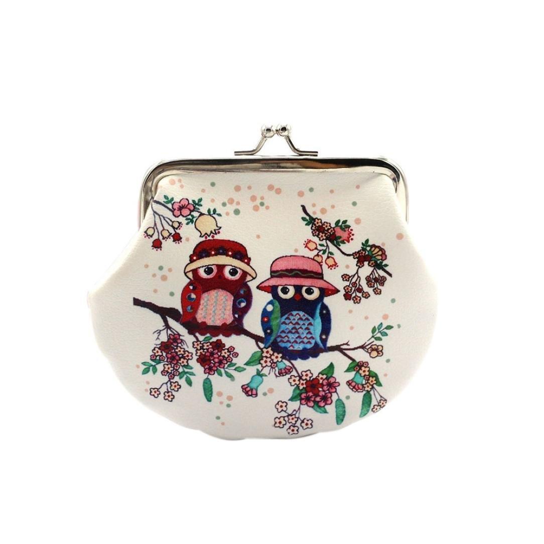 Hot sale!Todaies Women Retro Vintage Owl Leather Lady Small Wallet Hasp Purse Clutch Bag (14cmX12cm, A)