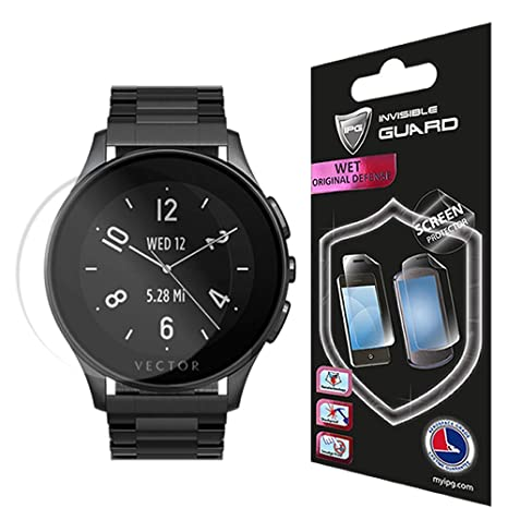 IPG for Vector Watch Luna Screen (2 Units) Invisible Protector Anti-Bubble/Ultra HD Clear Shield Skin Anti Scratch