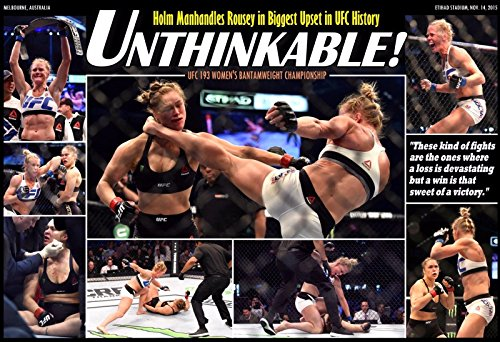 Holly Holm Destroys Ronda Rousey in Ufc 193 Fight Poster
