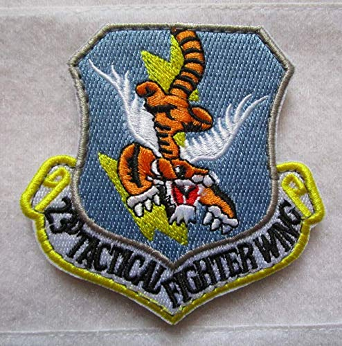 USAF 23RD Fighter Group Flying Tigers 3D Tactical Military Badges Embroidered Patch Back with Loops and Hook ()