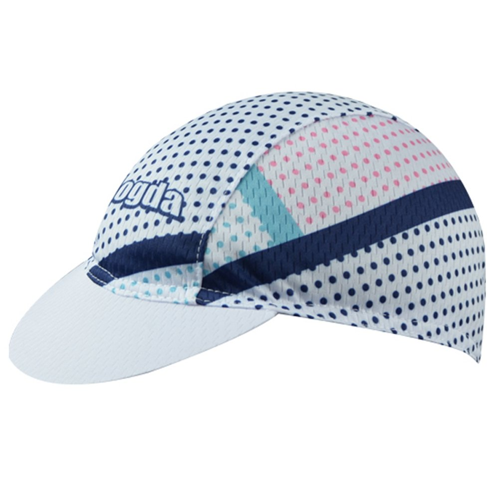 BIYINGEE Cycling Cap Polyester Fits Under Helmet Dots White