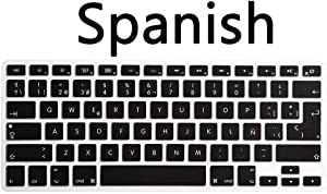 """WYGCH ESP Spanish Language Keyboard Cover Compatible MacBook Pro 13"""" 15"""" 17"""" (with or w/Out Retina Display) Silicone Skin for iMac and MacBook Air 13"""",USA and European Version"""