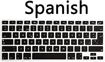 US Version Spanish Spain Language Silicone Keyboard Cover For Macbook Air Pro Re