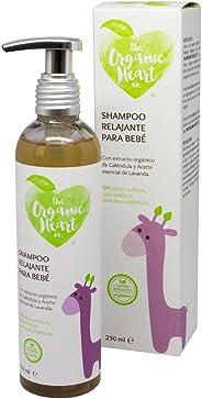 Organic Heart Champú Orgánico Relajante para Bebé, 250 ml, aroma a Lavanda