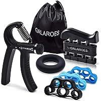 GALAROES Hand Grip Strengthener Forearm Grip Workout Kit Adjustable Hand Gripper Finger Exerciser Equipment Finger…