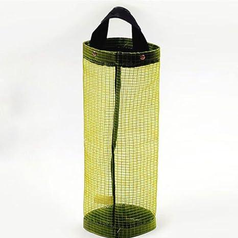 Organizador de bolsas Hanging Mesh Rubbish,STRIR 1pcs Portavasos innovador plegable, Bolsas de plástico