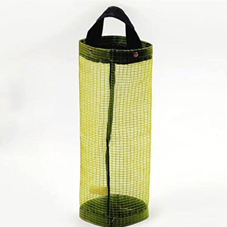 Organizador de bolsas Hanging Mesh Rubbish,STRIR 1pcs Portavasos innovador plegable, Bolsas de plástico transparente / Dispensador de bolsas de basura ...