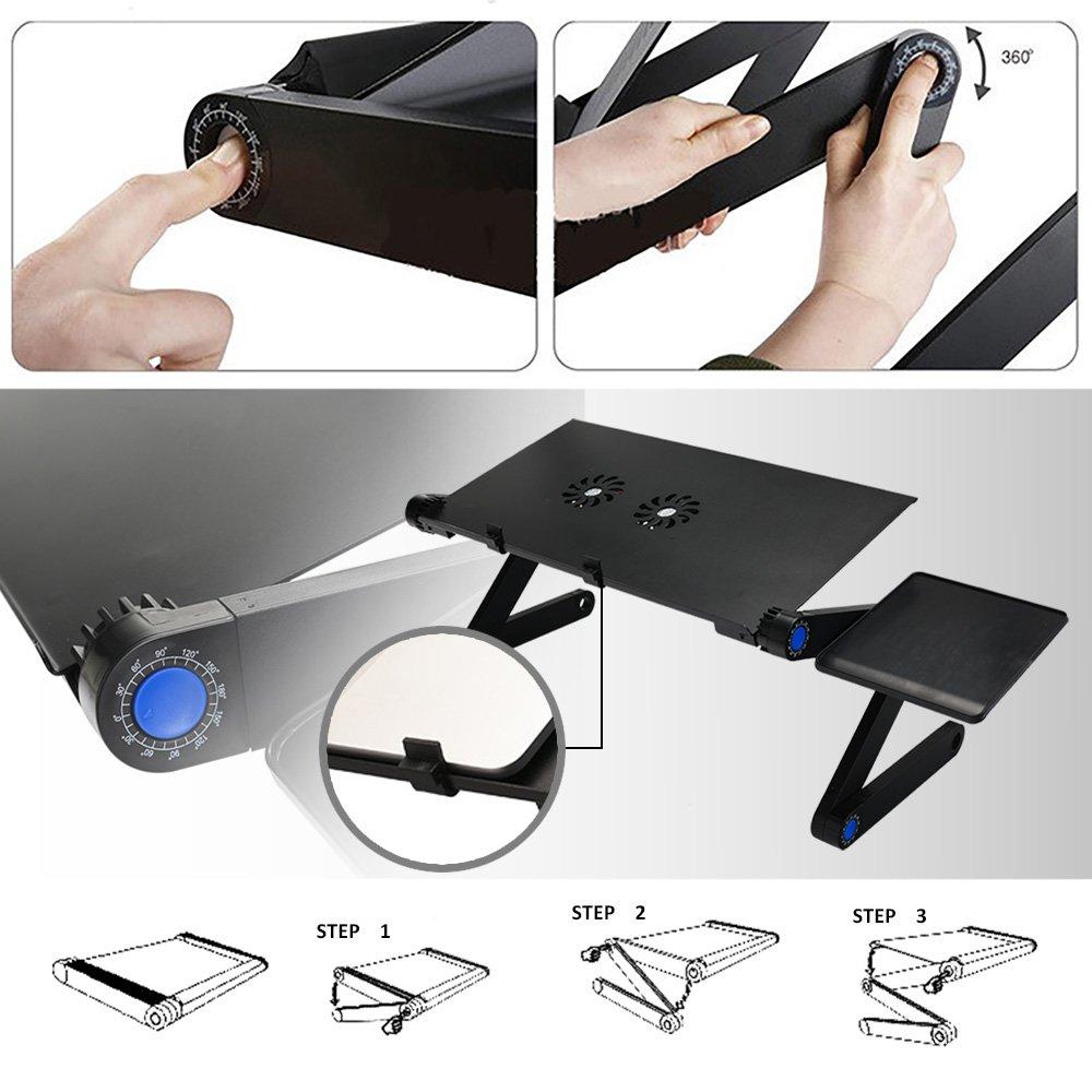 Longko - mesa de cama inclinable para PC Ordenador Portátil: Amazon.es: Hogar