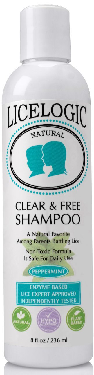 LiceLogic Natural Head Lice Shampoo and Treatment, Plant Based Formula Kills Super Lice, Nits, and Eggs, 8 oz