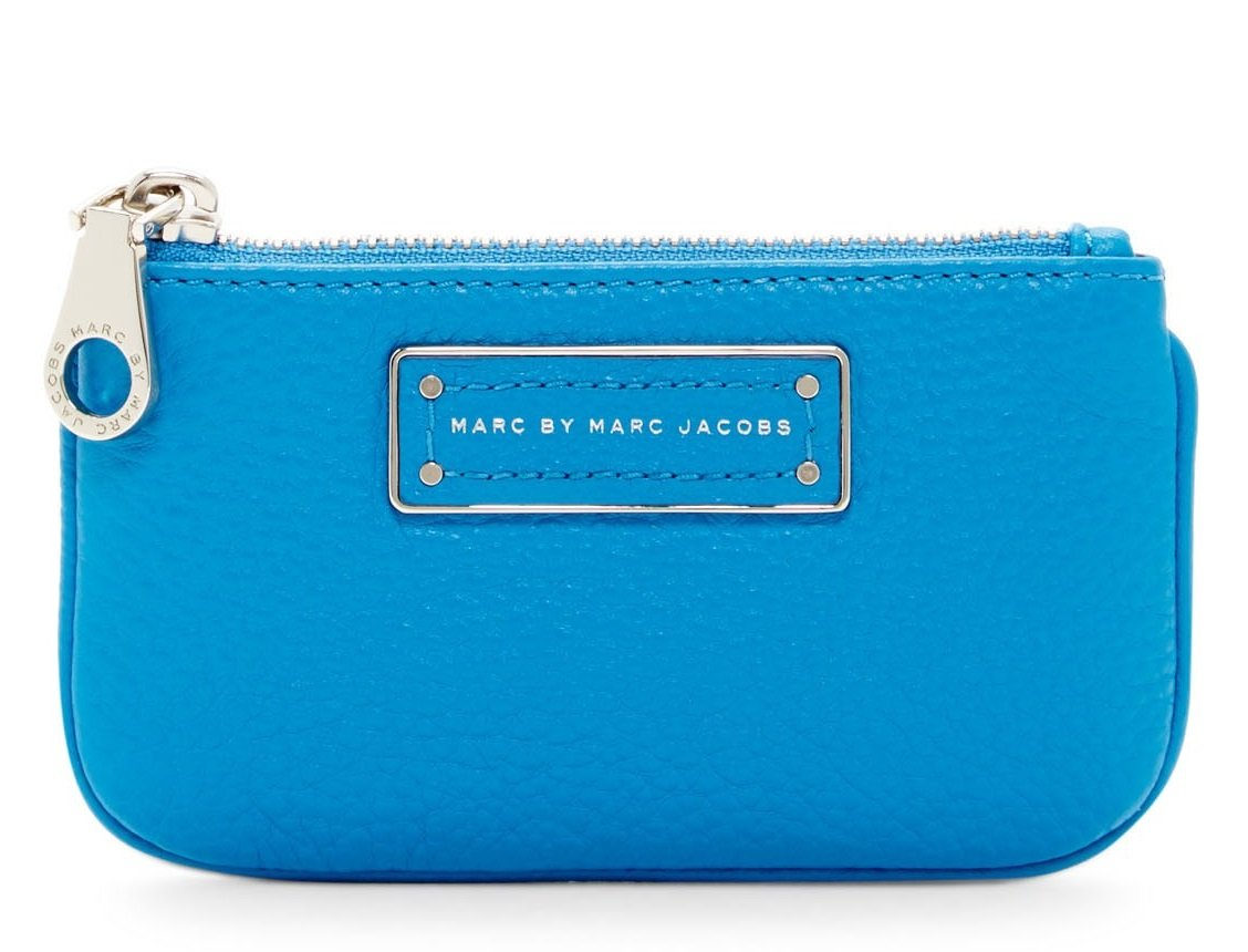 Marc By Marc Jacobs Too Hot To Handle Leather Key Pouch, Aquamarine by Marc by Marc Jacobs