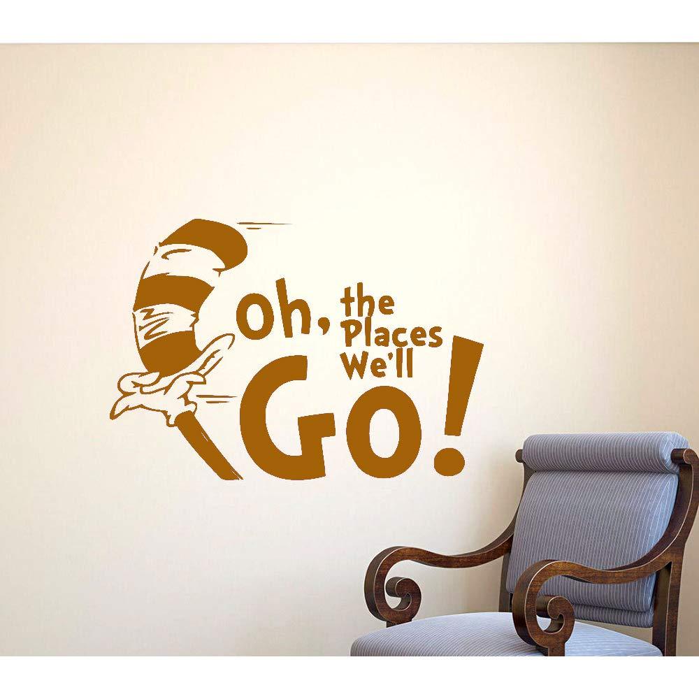 Vinilo Tatuajes de pared Oh The Places Well Go Animación de ...