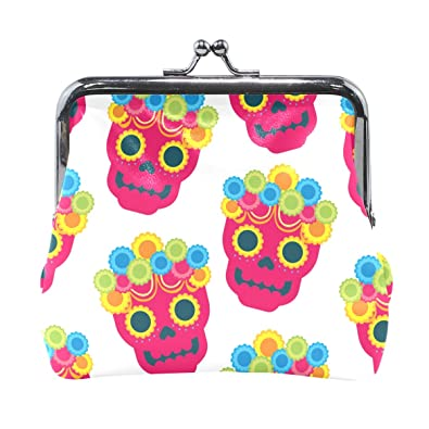 Amazon.com: Dragon Sword Sugar Skull Flores Monedero Cambiar ...
