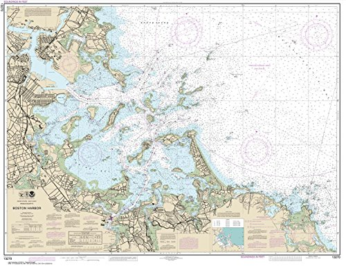 Paradise Cay Publications NOAA Chart 13270: Boston Harbor, 35.1 X 45.6, TRADITIONAL PAPER (Boston Harbor Chart)