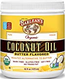 Barlean's Butter Flavored Coconut Oil, 16 Ounce