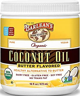 product image for Barlean's Organic Oils Butter Flavored Coconut Oil, 16 Ounce