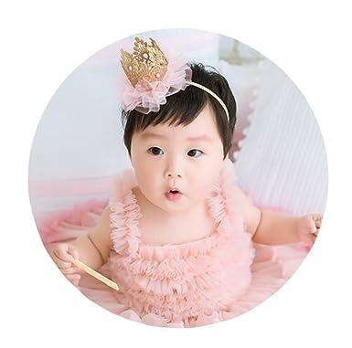 Good Night Crown Headband Princess Hairband Elastic Flower Hair