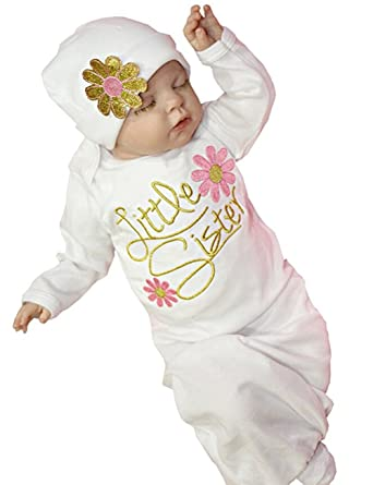 a5cbcee72dc4 Newborn Baby Girl Take Home outfit Baby Girl Gift Set Baby Gown (0-3 ...