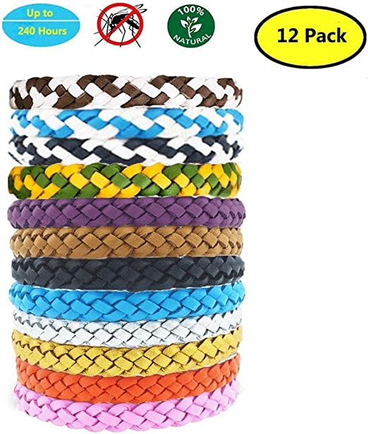 Yithings Pulsera Repelente de Mosquitos 12 Pack Exterior Insectos ...