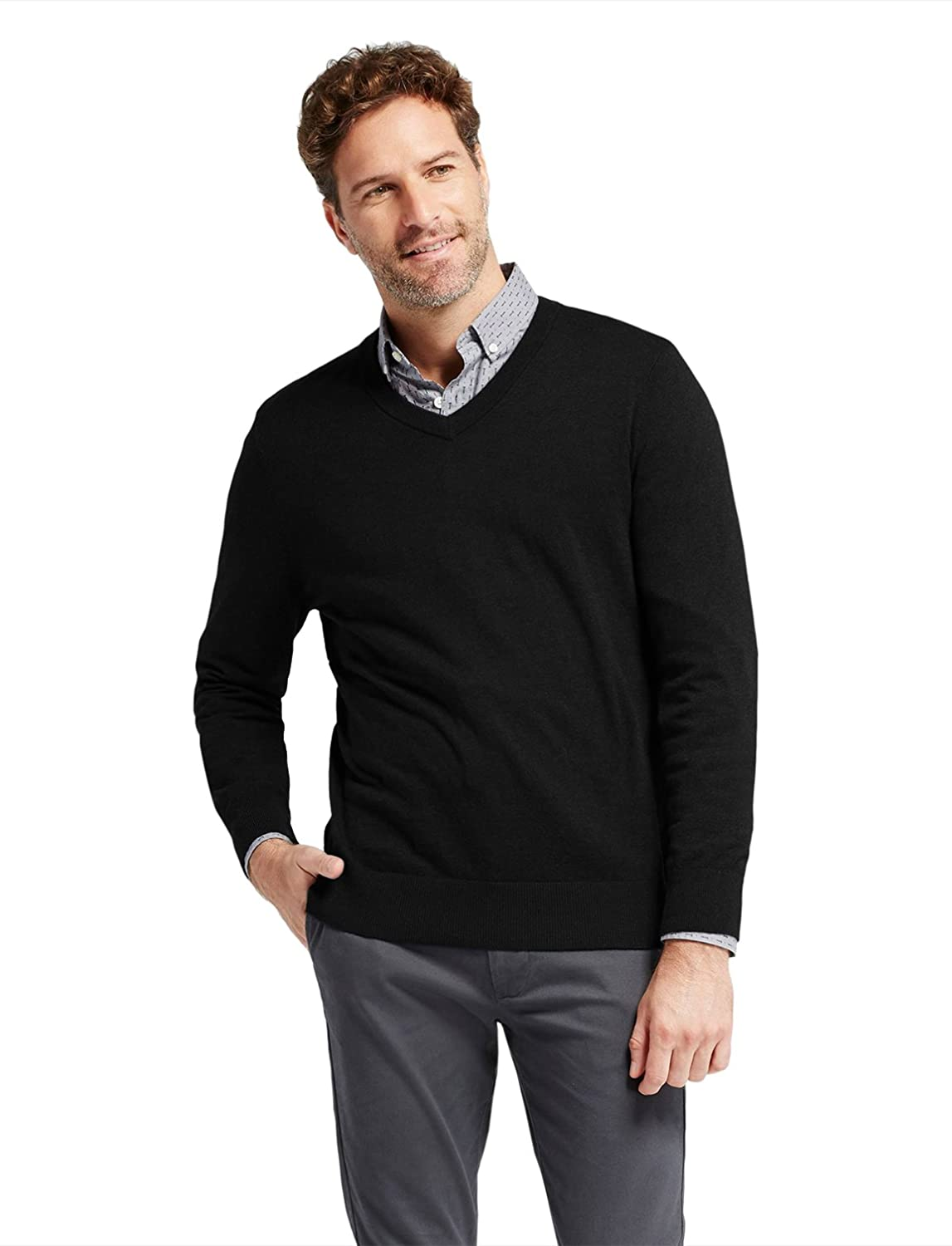 7 Encounter Mens Long Sleeve Basic V Neck Sweater At Amazon Mens