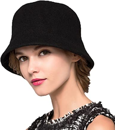 Maitose Womens Simple Wool Felt Bucket Hat