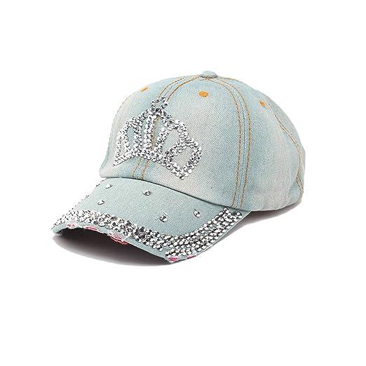 7f4707b8b Raylans Women Men Adjustable Rhinestone Studded Bling Tennis Baseball Cap  Sun Cap Hat
