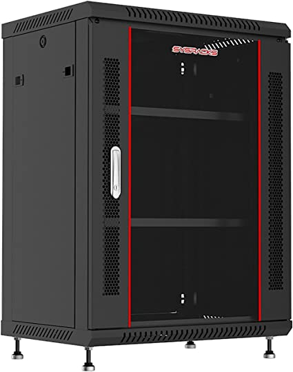 Amazon Com 12u 24in Depth Hq Wall Mount Server Rack Cabinet 24 W X24 D X25 H 600x600x629mm Glass Door 1 Fan 1 Shelf 4 Feet 2 Brush Cable Entries Free Home Audio Theater