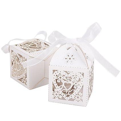 LEORX Favore del regalo di nozze scatole scatole di caramelle con ...