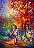 Barefooted Stroll is a Limited Edition print from the Edition of 400. The artwork is a hand-embellished, signed and numbered Giclee on Unstretched Canvas by Leonid Afremov. This wonderful artwork will help transform any room with its bright vibrant c...