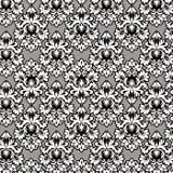 Damask Silver and Black Gift Wrap Roll 24'' X 16'