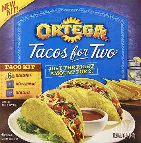 Ortega Taco Meal Kits, Tacos for Two, 6 Count (Pack of (Ortega Taco Dinner)