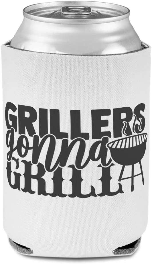 Sleeves for Cans Drink Cooler Grillers Gonna Grill Cooking Fire Family Occasion Dad Party Beer Cover