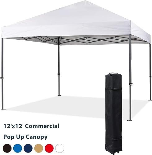 COOSHADE Heavy Duty Pop Up Canopy Tent 12x12Ft White