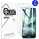 [2 Pack] Buluby for Nokia 7.2 / Nokia 6.2 Screen Protector Tempered Glass,HD Clear Scratch Resistant Bubble Free Anti-Fingerprints 9H Hardness Film