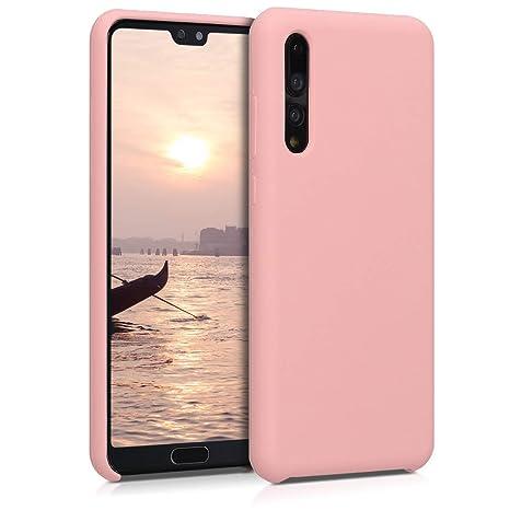 kwmobile Funda para Huawei P20 Pro - Carcasa de [TPU] para teléfono móvil - Cover [Trasero] en [Rosa Oro Mate]
