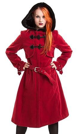 Mantel rot mit gurtel