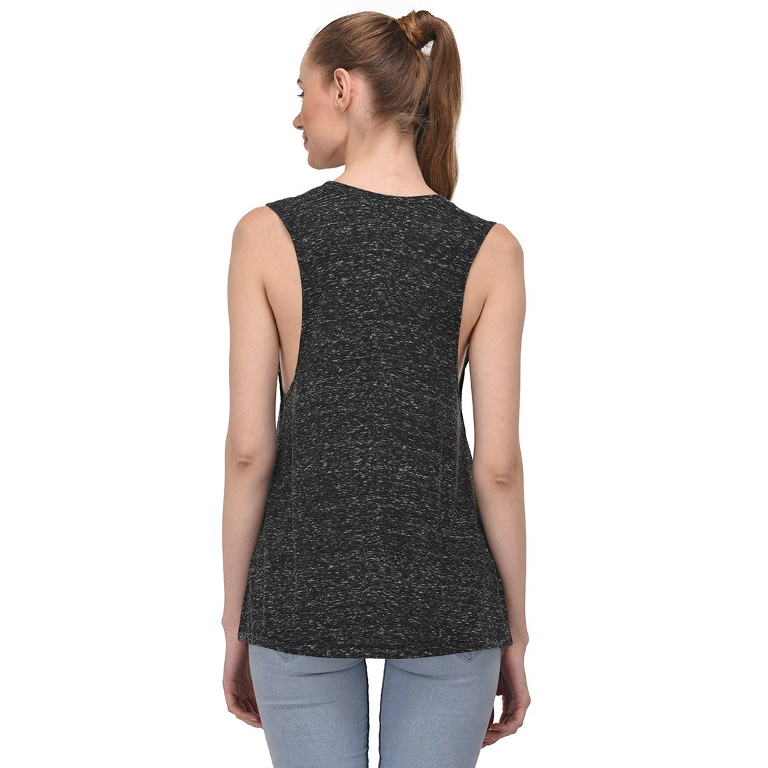 Black Marble Small Essentielle Women's Triblend Muscle Tank Top